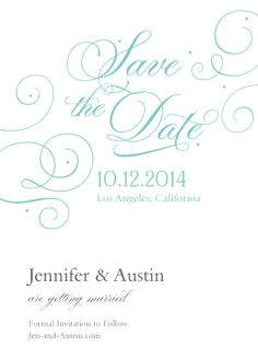 Save the Date Card - Always & Forever