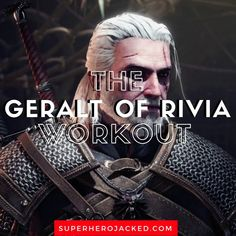Geralt of Rivia Workout Routine: Train like The Witcher with this Geralt of Rivia Inspired Workout Routine. Think you have what it takes? Hero Workouts, Gym Workouts, Leg Press, Bench Press, Viking Workout, Superhero Workout, Superhero Academy, Push Day, Preacher Curls