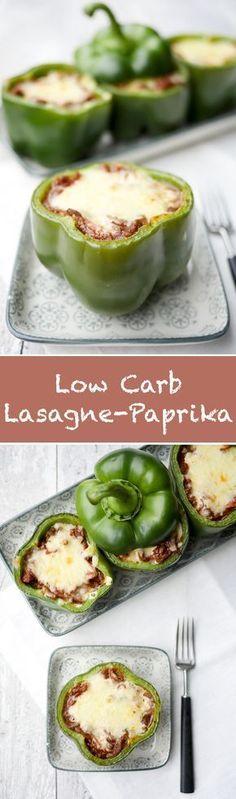 Rezept für gefüllte Lasagne-Paprika - ein schnelles und leckeres Low Carb Rezept - Gaumenfreundin Foodblog #lowcarbrezepte #schnellelowcarbrezepte #gefülltepaprika #gesunderezepte #schnellerezepte #lowcarb #lowcarbrezeptedeutsch #fitnessrezepte #diätrezepte #essen #rezepte