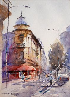 Join artist Dhruba Mazumder, a watercolourist who lives and works in Bucharest, Romania as he shares his art journey, watercolour painting process, and art supplies for watercolor painting. Watercolor Artists, Watercolor Techniques, Watercolour Painting, Watercolors, Watercolor Architecture, World Water, Painting Process, Bucharest, Around The Worlds