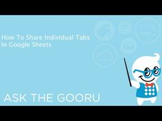 Share Individual Tabs In Google Sheets so people can't see every sheet | The Gooru