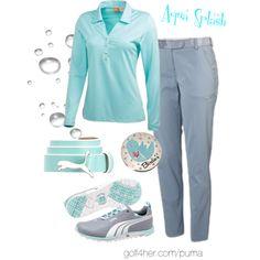 Ladies Golf OOTD: Aqua Splash by golf4her on Polyvore featuring Puma