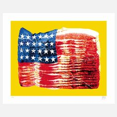Bacon Flag Serigraph by Kii Arens
