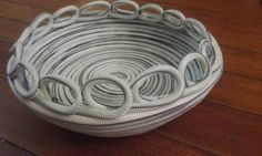 Check out this item in my Etsy shop https://www.etsy.com/listing/256429538/handmade-rope-bowl