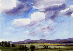 watercolor landscapes - Google Search