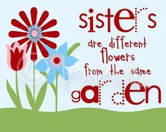 Children Art QUOTE Sisters Print 8x10 por Lexiphilia en Etsy