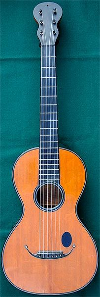 Early Musical Instruments, antique Romantic Guitar by Marcard around 1830