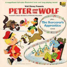 Walt Disney Presents Peter And The Wolf Sorcerers Disneyland Record LP 3926 Wolf Album, High School Memories, Disney Records, Disney Presents, Cover Songs, Kids Songs, Vintage Disney, Vintage Children, Album Covers