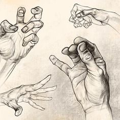 How To Draw Hands, Drawings, Artwork, Work Of Art, Sketch, Portrait, Drawing, Resim, Paintings