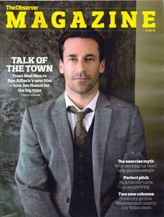 Jon Hamm on the cover of The Observer Magazine 2010