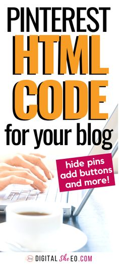 HTML code for bloggers who use Pinterest marketing strategies for their business. Tips to hide pins, add buttons and optimize your blog to make money online. #pinterestwordpress #pinterestforblogggers #pinterestcode #pinterestwidget Pinterest For Business, Creating A Blog, Blogging For Beginners, Pinterest Marketing, Blog Tips, How To Make Money, Marketing Strategies, Business Tips, Professional Development