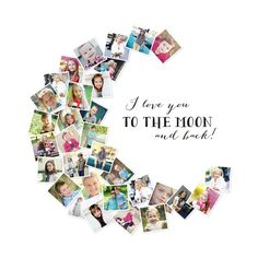 Love You To The Moon & Back! by Chasity Smith for Minted