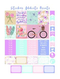 Free Bring May Flowers Weekly Planner Kit | Sticker Addicts Anonymous