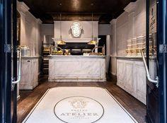 Nijboer - Frites Atelier Amsterdam #restaurant #frites #interieur #marmer #mozaiek
