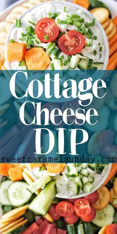 Cottage Cheese Dip is an easy healthy recipe that is perfect for entertaining! With onion and garlic this is a tasty dip perfect for parties! Easy Healthy Recipes, Healthy Snacks, Easy Meals, Healthy Eating, Nutritious Snacks, Protein Snacks, High Protein, Appetizer Dips, Appetizer Recipes