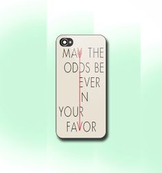Hunger Games Quote May The Odds Be Ever In Your Favor, iPhone 4/4S case, iPhone 5/5s/5c case, Samsung S3/S4 Case, Photo print hard Plastic on Etsy, $13.99
