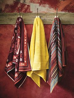 Inject some bold, fun and spicy towel linen into your bathroom for a Silk Route inspired look.