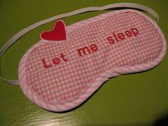 Lovelylinde: slaapmaskertje !