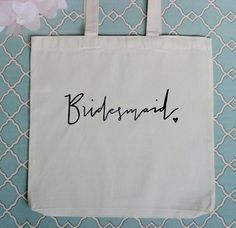 Bridal Party Gift Bag For the Bridesmaid by DreamState on Etsy, $10.00