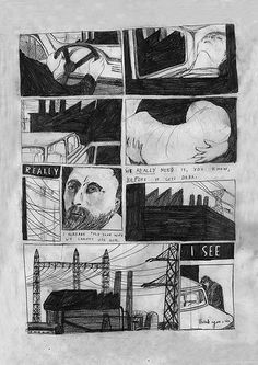 First two pages of a four page comic Fade Out.