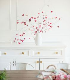 These Gorgeous Valentine's Day Decorations Are Sure to Fill Your Heart with Love - Wilkie: This Valentine's Day love tree will stand out while maintaining a minimalistic look in your house!
