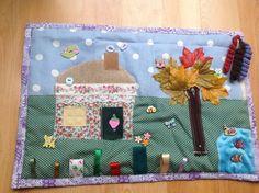 Fidget blanket quilt COUNTRY COTTAGE theme dementia Alzheimer's ADHD Sensory mat | eBay