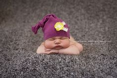 UPCYCLE- knotted newborn hat from an old sweater