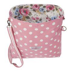 Painterley rose reversible folded messenger bag