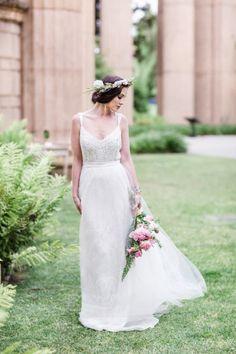 Grecian inspired bridal shoot | Read More: http://www.stylemepretty.com/little-black-book-blog/2014/09/17/grecian-wedding-inspiration-in-san-francisco/ | Photography: Ann & Kam - http://www.annkam.com/