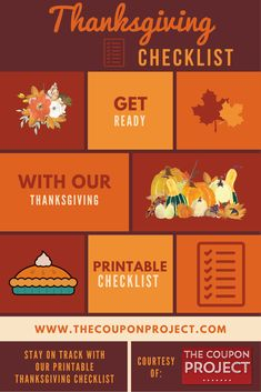 Thanksgiving Planning Checklist {Free Printable} - The Coupon Project Free Thanksgiving Printables, Thanksgiving Crafts, Free Printables, Save Money On Groceries, Best Food Ever, Quick Dinner Recipes, Favorite Holiday, Coupon, Make It Yourself