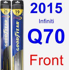 Front Wiper Blade Pack for 2015 Infiniti Q70 - Hybrid