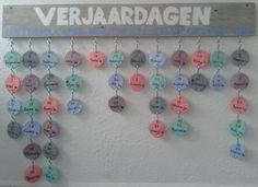 Mijn verjaardag kalender na inspiratie van Welke het is super makkelijk om te maken en origineel.