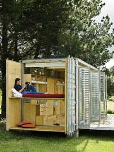I intend this design to be one of the first I build. LOVE IT! Port A Bach Shipping Container Tiny House Photo