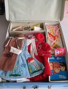 Barbie clothes....remember how it felt to open your Barbie case?