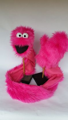 GLARF (TM), A Glove-Scarf-Puppet combination! (adult size PINK)