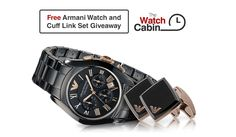 Win A FREE Armani Watch and Cuff Link Gift Set