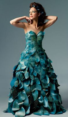 Papier Couture creates wearable art - full length, sculptural gowns