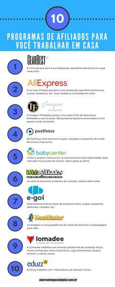 top 10 programa de afiliados Earn Money From Home, How To Make Money, Blog Love, Extra Money, Album, Ecommerce, Digital Marketing, Social Media, Messages