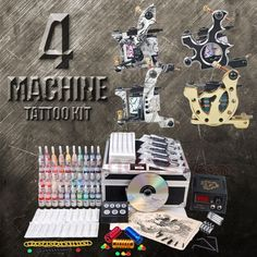 20 best tattoo body art images on pinterest tattoo kits tattoo complete tattoo kits 4 pro tattoo machines power needles 40 ink diy 141 solutioingenieria Choice Image