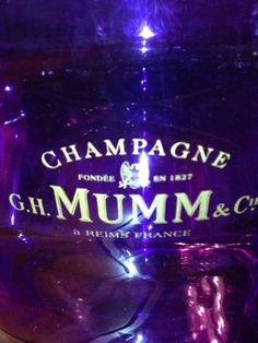 G.H. MUMM CHAMPAGNE Mumm Joyesse ICE BUCKET - Purple Color - Rare Mumm Champagne, Champagne Buckets, Neon Signs, Ice, Purple, Color, Ebay, Ice Cream, Colour