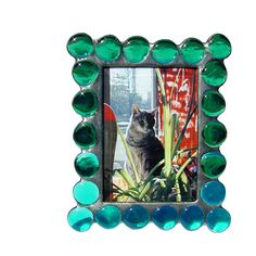 Diane Markin Fat Boy Teal Photo Frame FB-T, Artistic Artisan Designer Photo Frames