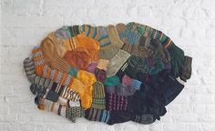 Anu Tuominen, sock mosaic This is making me so happy!!