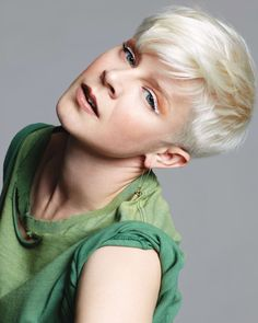 I never like girls with short hair... But I think Robyn (Swedish pop-singer) is…