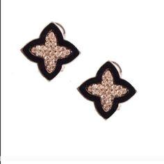"Earrings T&J Designs Clover Czech Stone Earrings Have Arrived⭐️For pierced ears⭐️Approximately 3/4"" long⭐️PRICE FIRM unless bundled⭐️Photos courtesy of T&J Designs⭐️ T&J Designs Jewelry Earrings"