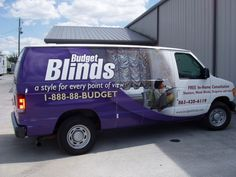 Budget Blinds Graphics on Van  http://graphicinstallers.com/car-wraps-and-decals/#