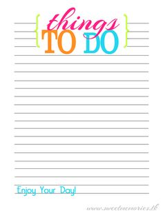 Free Things To Do Printable
