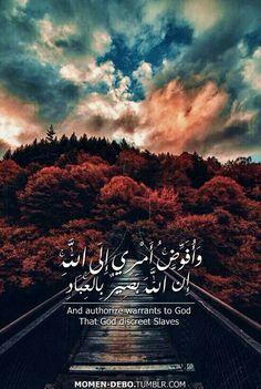 وافوض امري الي الله Duaa Islam, Allah Islam, Islam Quran, Quran Quotes Love, Allah Quotes, Arabic Quotes, Quran Wallpaper, Islamic Quotes Wallpaper, Beautiful Islamic Quotes