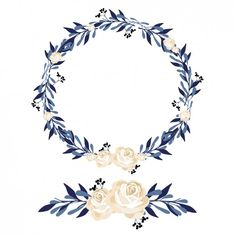 couronne de fleurs et de design ornement Vecteur gratuit