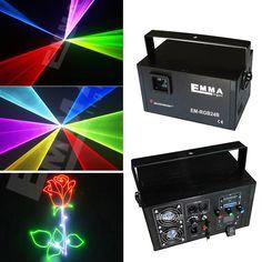 DMX + ILDA + SD + 2D + 3D Multi couleur 1 w 1.5 W rgb lumière laser/dj lumières/stage de lumière/lumière laser/laser projecteur