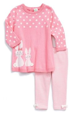 Little Me 'Bunny' Sweater Dress & Leggings (Baby Girls) available at #Nordstrom